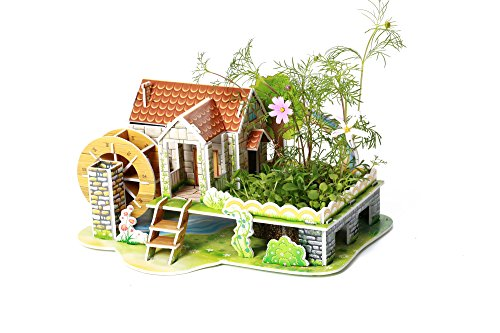 3D Puzzle for Ages 3-12 Years Kids Garden Rainbow Houses Acc
