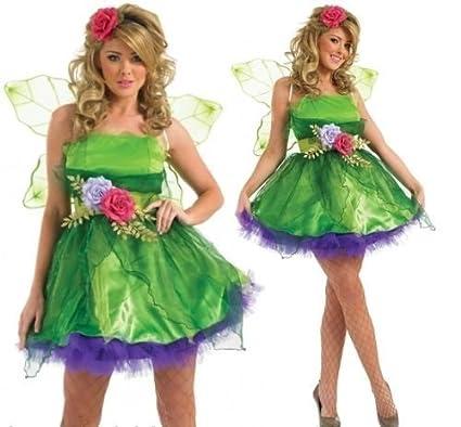 Amazon Ladies Fairy Nymph Pixie Fancy Dress Halloween Costume