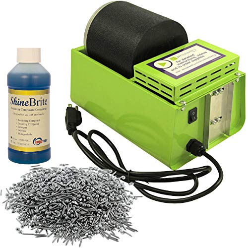 - WireJewelry Single Barrel Rotary Tumbler, Jewelry and Metal Polishing Kit, Includes 1 Pound of Jewelers Mix Shot and 8 Ounces of Shinebrite Burnishing Compound
