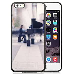 DIY TPU Phone Case Piano Player In Park iPhone 6 Plus 5.5 inch Wallpaper