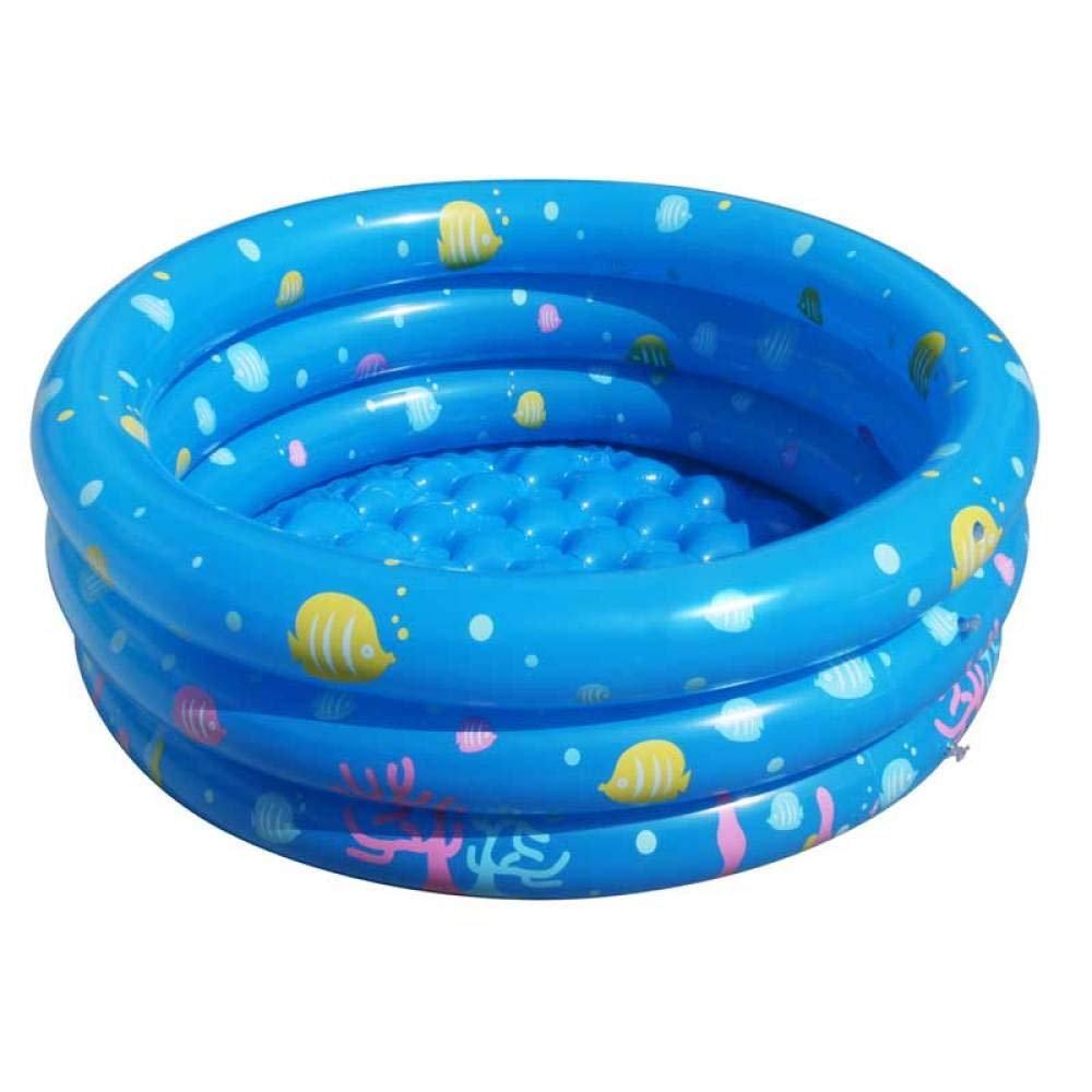 80cm bleu Treslin Inflatable Round Swimming Pool , Bath Tub de plein air Balls Playing Pool,@150cm bleu
