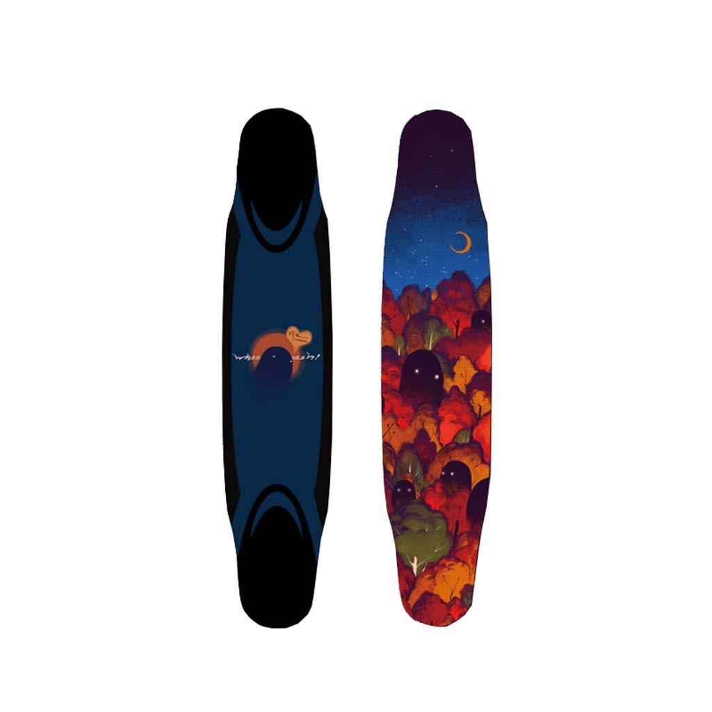 LIUFS-スケートボード 完全なスケートボードプロフェッショナルロングボード44インチフルボードオールラウンドブラシストリートダンスボード - マウンテンゴースト  25-65KG