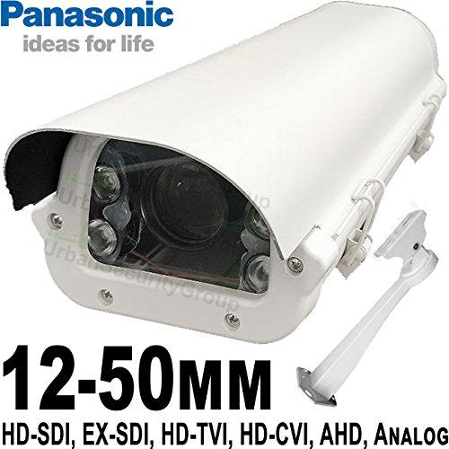 USG 12-50mm 1080P Telephoto Lens 6-in-1 CCTV Format Panasonic Chip 1080P 2MP High Definition Security Camera : 6MP 12-50mm Auto-Iris Lens, 4X IR LEDs : HD-SDI, EX-SDI, HD-TVI, HD-CVI, AHD, Analog 50mm Varifocal Auto Iris Lens