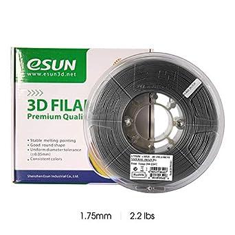 eSUN Relleno de Aluminio PLA Filamento de Impresora 3D, Filamento ...