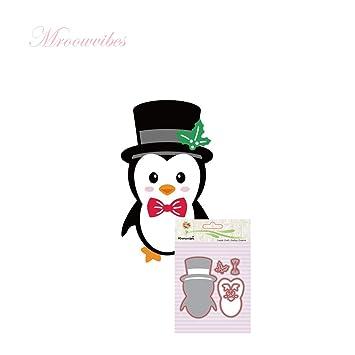 lulujan DIY de Navidad pingüino de corte muere Plantillas de acero al carbono molde de metal ...
