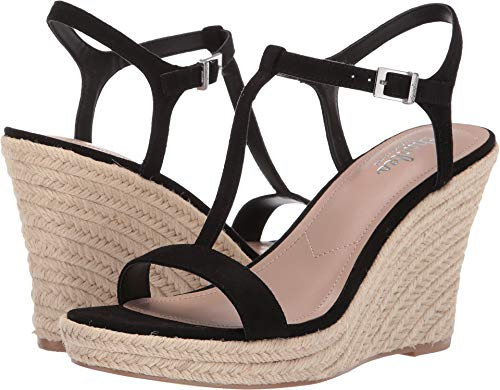 CHARLES BY CHARLES DAVID Women's Lili Espadrille Wedge Sandal Black 7.5 M US