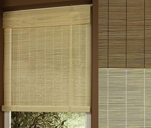 GARDUNA Rollo - Bambus # kirschbaum 60 x 160cm # Bambusrollo mit Seitenzug - Sichtschutz