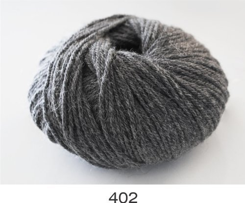 100% Luxurious Baby Alpaca Wool/Yarn from Peru, Dark Grey, 402 DK 50g, by Indiecita Baby Alpaca (Indiecita Baby Alpaca)