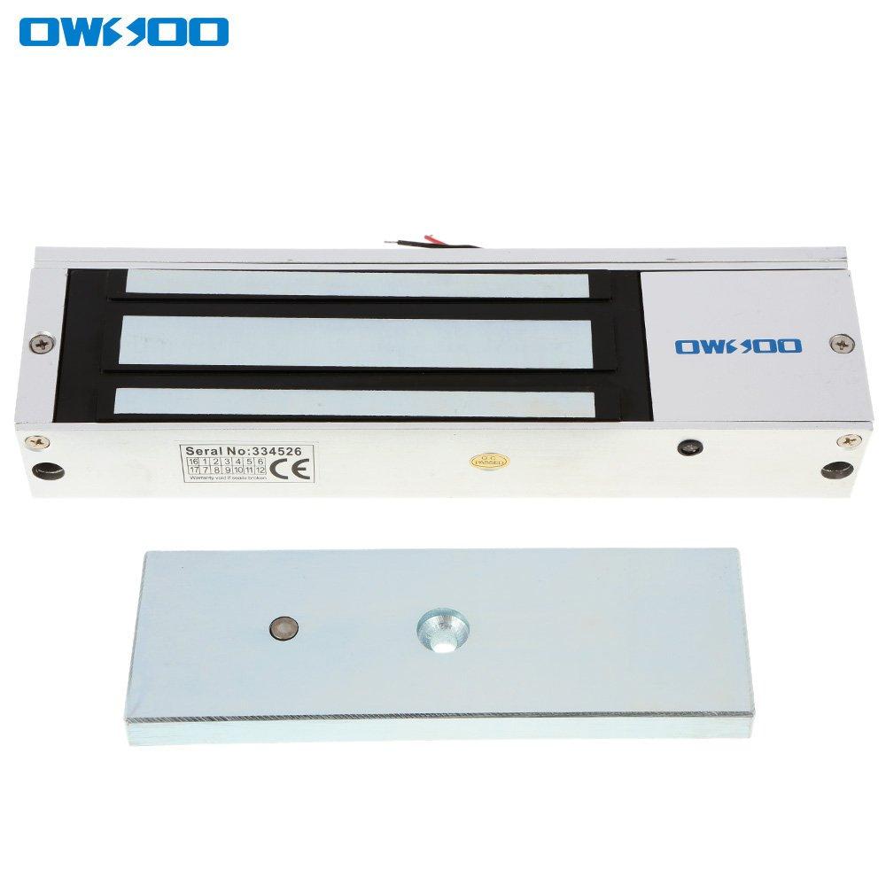 OWSOO Magnetschloss Elektrische 180KG 350lbs Haltekraft f/ür T/ür Zutrittskontrollsystem Elektromagnet Ausfallsichere NC-Modus