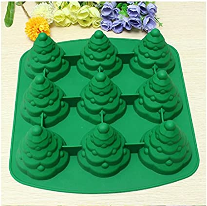 3D Christmas Tree Silicone Mold Fondant Cake Decorating Candy Chocolate Mou A3N0