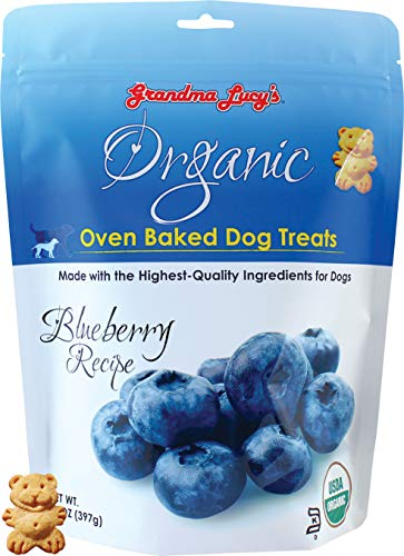 Grandma Lucy's Organic Oven Baked Dog Treats - Blueberry, 14 oz