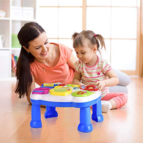 Balnore Kids Musical Table,Learn & Groove Table Education Activity Center Multiple Modes Game for Kids Toddlers
