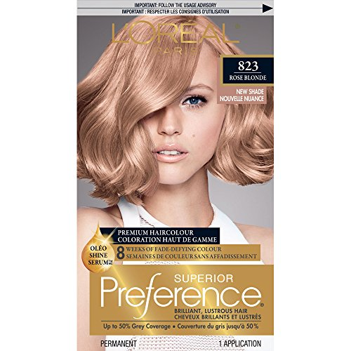 L'Oréal Paris Superior Preference Permanent Hair Color, 8RB Medium Rose Blonde - Exclusive Hair Formula