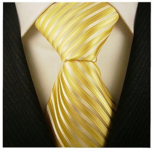 Scott Allan Collection Striped Ties for Men - Woven Necktie - Yellow ()