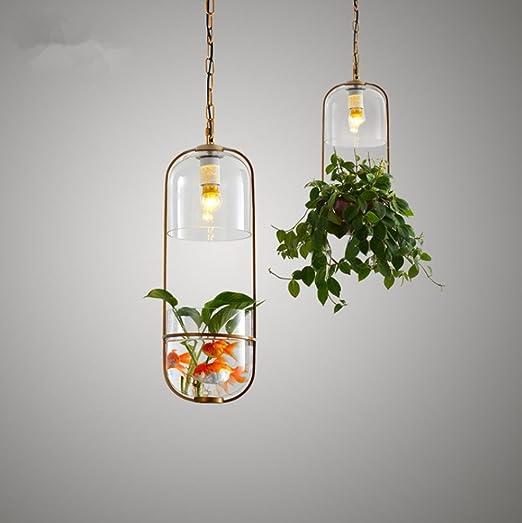 OOFAY Candelabros Jardín Planta Botella colgante lámpara de proyección Dormitorio Piso Salón