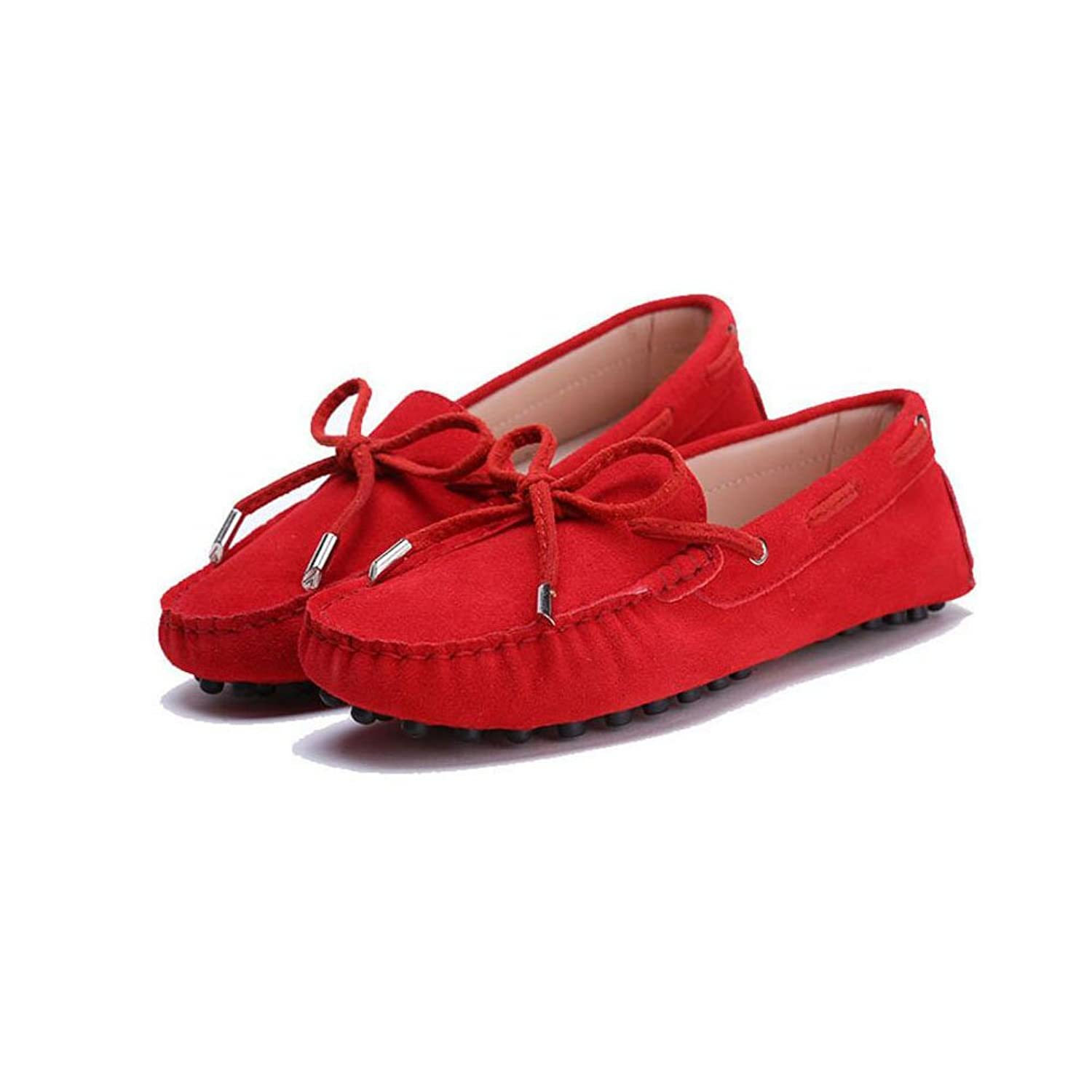 YITL Women's Suede Leather Driving Moccasins Slip-On Loafers Boat Shoes Flats