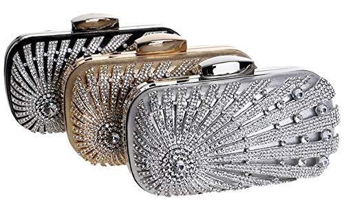 Black 5cm Magnetic 9 Bag 5 with Leather Silver Ladies EDLUX 19 Evening Handbag Shoulder Faux Buckle 5 for Women Bag CqxvPt