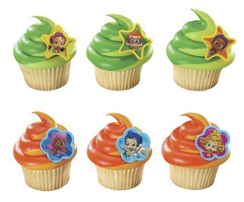 Quantumchaos 1 X 24 ~ Bubble Guppies Cupcake Rings ~ Designer Cake/Cupcake Topper ~ ()