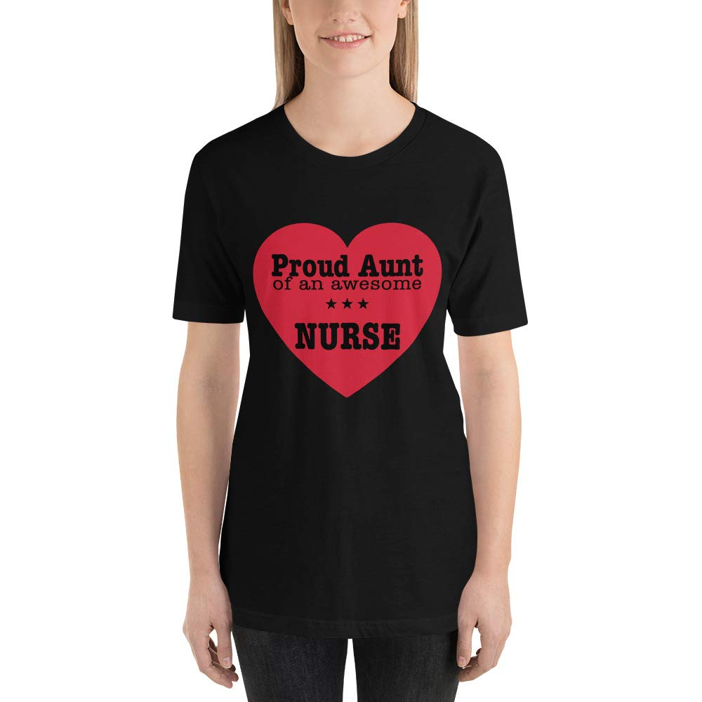Proud Aunt of an Awesome Nurse National Nurses Day Aunt Birthday Gift Short-Sleeve T-Shirt