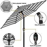 Blissun 7.5 ft Patio Umbrella, Yard Umbrella Push