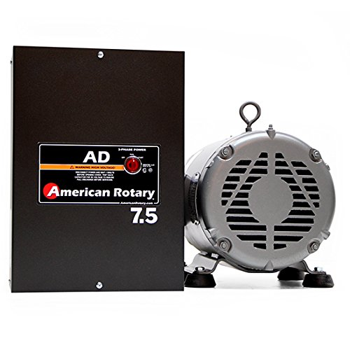 3 HP / 2.3 kW General Purpose American Rotary Phase Converter, 240 VAC Single to Three Phase, Wall Mount - AD-7.5