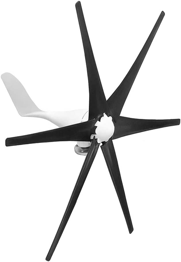 48V 6 Nylon-Faser-Blatt-Wind-Turbinen-Generator Horizontal Energie Windrad Energie Turbines Lade Fit f/ür Heim 5600W Windturbine 12V 24V