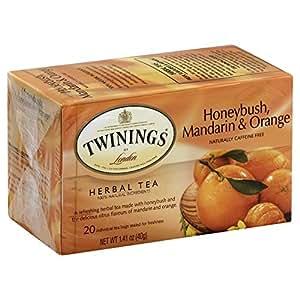 Twinings Herbal Unwind African Honeybush, Mandarin and Orange Tea, 120 Count