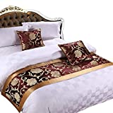 Y-Step Bed Runner Cover Pillowcase Two Layers Bedding Mat Tail Flag Hotel Decoration