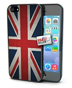 Great Britain British Grunge Vintage Flag Black Plastic Cover Case for iPhone 6 Plus (5.5 inch) by Maris's Diary