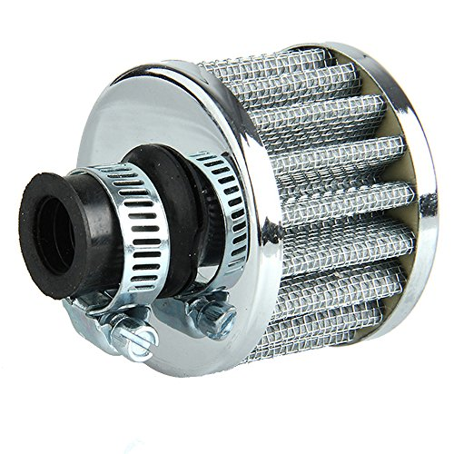 E Support™ 12mm Mini Sliver Cone Cold Air Intake Filter Turbo Vent (Crankcase Breather Filter)