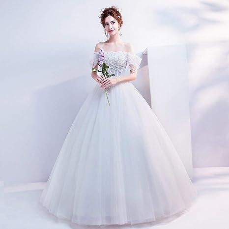 f500f30c7232 YT-RE Vestito da Cerimonia Nuziale del Pavimento del Fiore del Fiore del  Vestito dalla