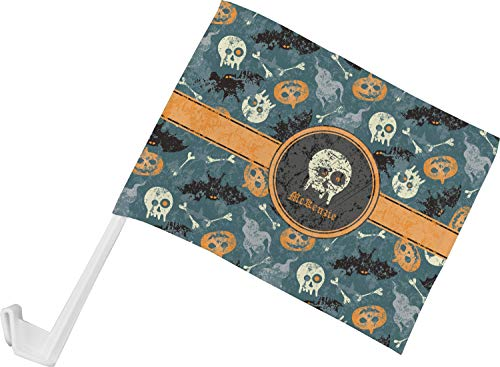RNK Shops Vintage/Grunge Halloween Car Flag (Personalized) -