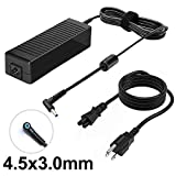 150W Power Supply Charger for HP OMEN x by 15 17 ZBook Studio 15 G3 G4 G5 G6 ADP-150XB B 776620-001 917677-003 75626-003 917677-001 PC Laptop Adapter Cord 19.5V 7.7A 150 Watt Connector 4.5mm x 3.0mm