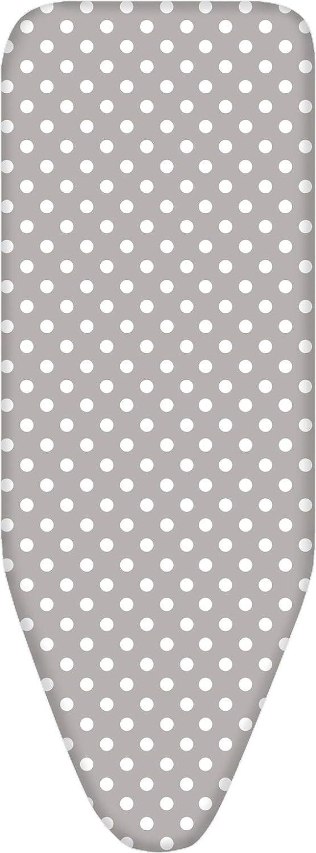 Dots Silver-XXL-150x58 cm Housse table /à repasser /élastique