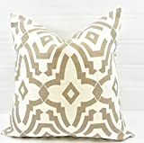 Ecru & white Chevelle Pillow cover. Sham cover. throw Pillow cover. Select size.