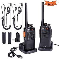 Talkie-walkie Classique Tacklife MTR01/ Distance Intercom 3-4 km/16 Canaux PMR 446 MHz/Connexion Radio Bidirectionnelle Charge 2h & 6 Jours en Veille/Haut-parleur Intégré et 2 Ecouteurs/Rechargeur USB