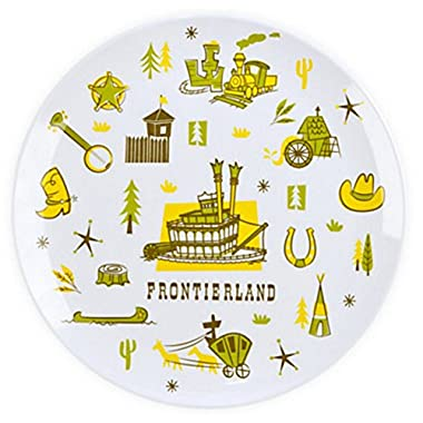 Exclusive Disney Parks Walt Disney World Disneyland Frontierland 8  Melamine Collector Plate