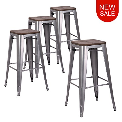 Outdoor Wood Finish Bar Stool - LCH 30