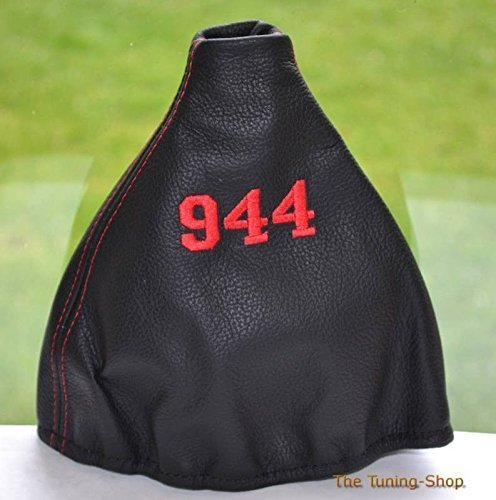 - The Tuning-Shop Ltd For Porsche 944 (1982-1985) Porsche 924 (1982-1989) Manual Shift Boot Shift Boot Black Italian Leather Red 944 Logo Embroidery