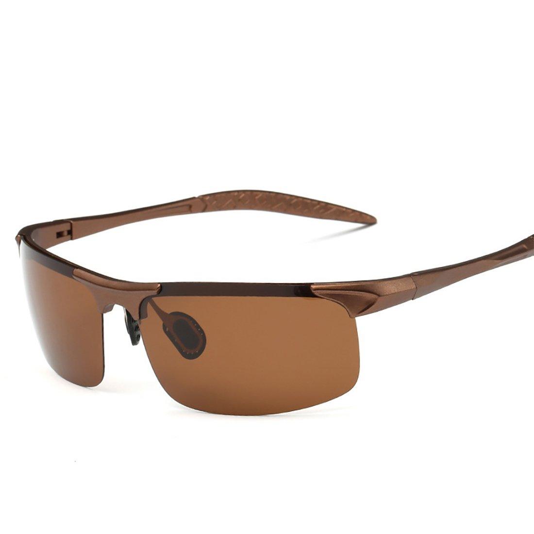 Surface MAX Gafas de Sol polarizadas de Aluminio y magnesio Deportes al Aire Libre Montar Gafas de Sol Gafas de Sol reflexivas Marco de PC Anti-UV400