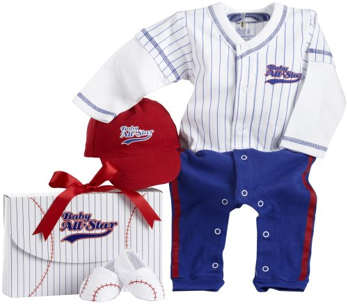 Baby Aspen Big Dreamzz Baseball Layette Set (0-6 -
