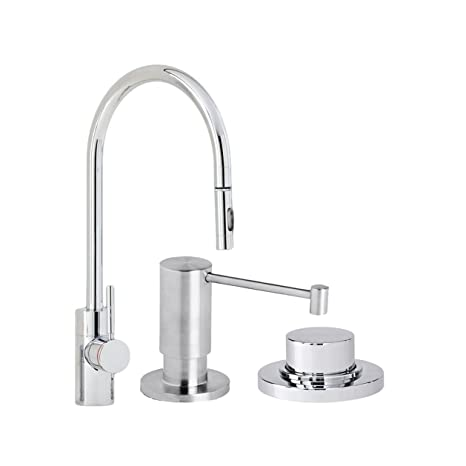 Waterstone 5400 3 Wt Parche Single Handle Kitchen Faucet With Pull