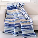 Barefoot Bungalow Crystal Cove Throw Blanket, 50'' x 60'', Blue