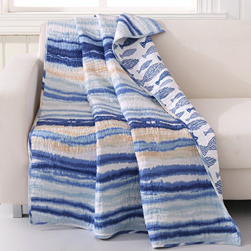 Barefoot Bungalow Crystal Cove Throw Blanket, 50