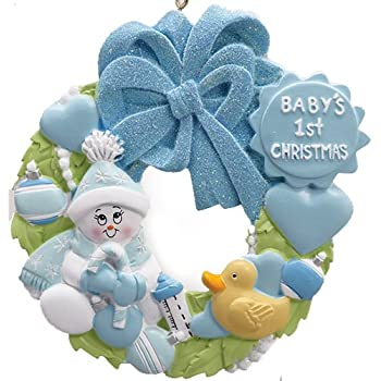Amazon Com Personalized Baby S First Christmas Rocking