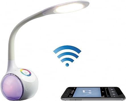 LIVOO TES159 - Lámpara LED HP Bluetooth para smartphone, color blanco: Amazon.es: Electrónica