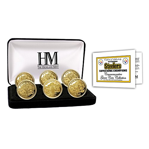 Pittsburgh Steelers Coin Set - Pittsburgh Steelers 6-time Super Bowl Champions Gold Game Coin Set