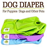 [Extra 80% OFF for the Holiday Season!] Luxury Reusable Dog Diapers (3-Pack) - Extra Small Durable Dog Wraps Nappies for Both Male and Female Dogs, Cats, Rabbits and Other Small Animals by Pet Magasin