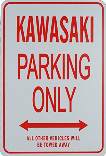 KAWASAKI PARKING ONLY - Miniature Parking Signs Ideal for the motoring enthusiast