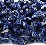 """Luxury & Custom {13 x 17mm w/ .5mm Holes} of Approx 8 Individual Loose Large Size Bear """"Gemstone"""" Beads Made of Genuine Sodalite Gemstone w/ Wild Forest Animals Design {Blue & White}"""
